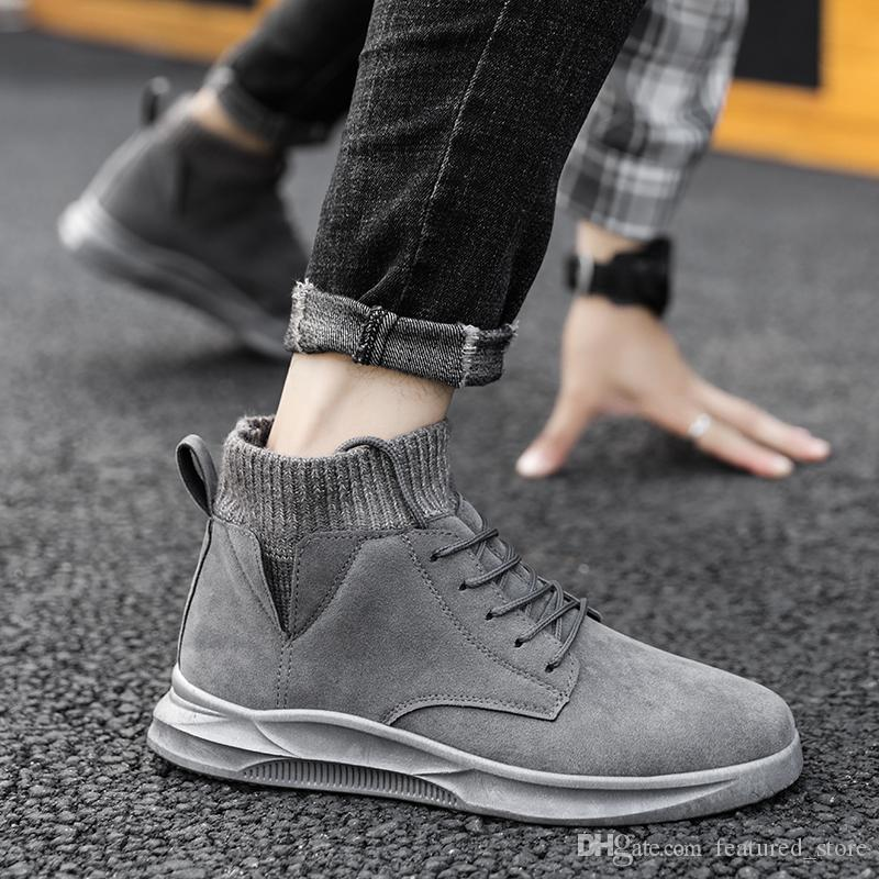 2019 Fashion Designer Snow Winter Boots Classic Men Women Tall High For Winter Black White Grey Fashion Wholesale Sneakers Size 39 44 Black Ankle Boots Wedge Shoes From Featured Store 41 96 Dhgate Com