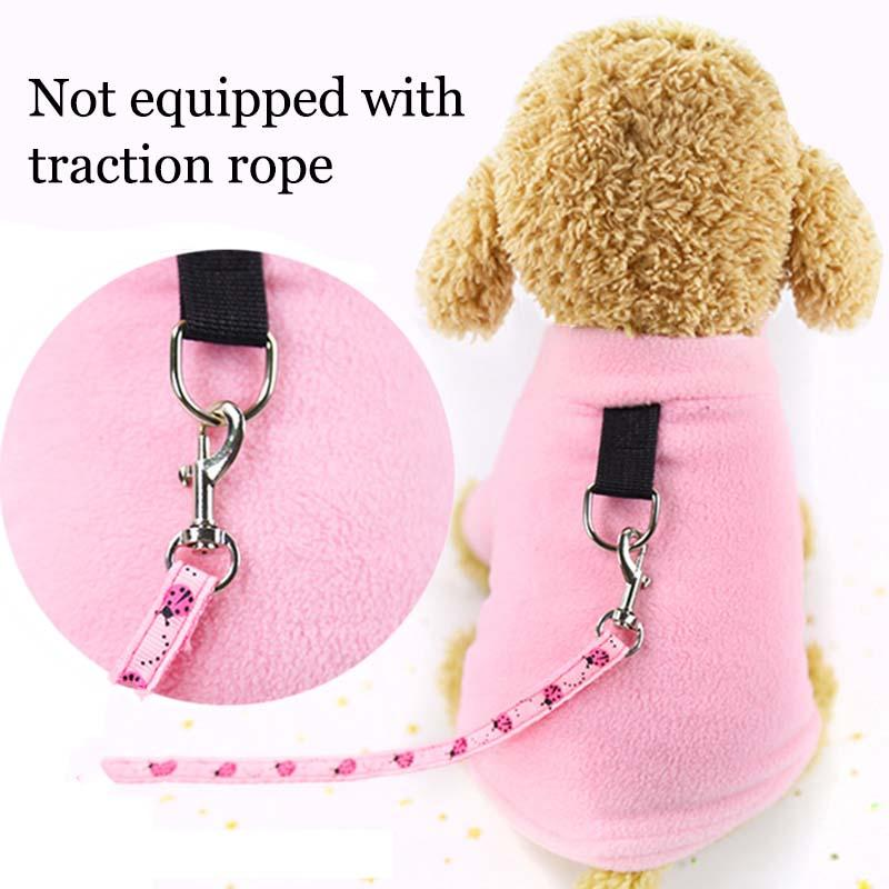 Pure Color With D-type Buckle French Bulldog Small Dog Clothes Winter Ropa Perro Chihuahua Coat Pug Puppy Dog Hoodie Pet Clothes
