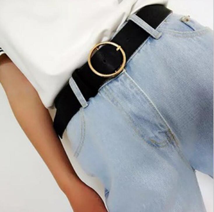 Cinture nuova delle donne grigio fibbia in oro vita per la pelle da donna jeans skinny sottile cinghie di alta qualità cintura Cinturon Mujer