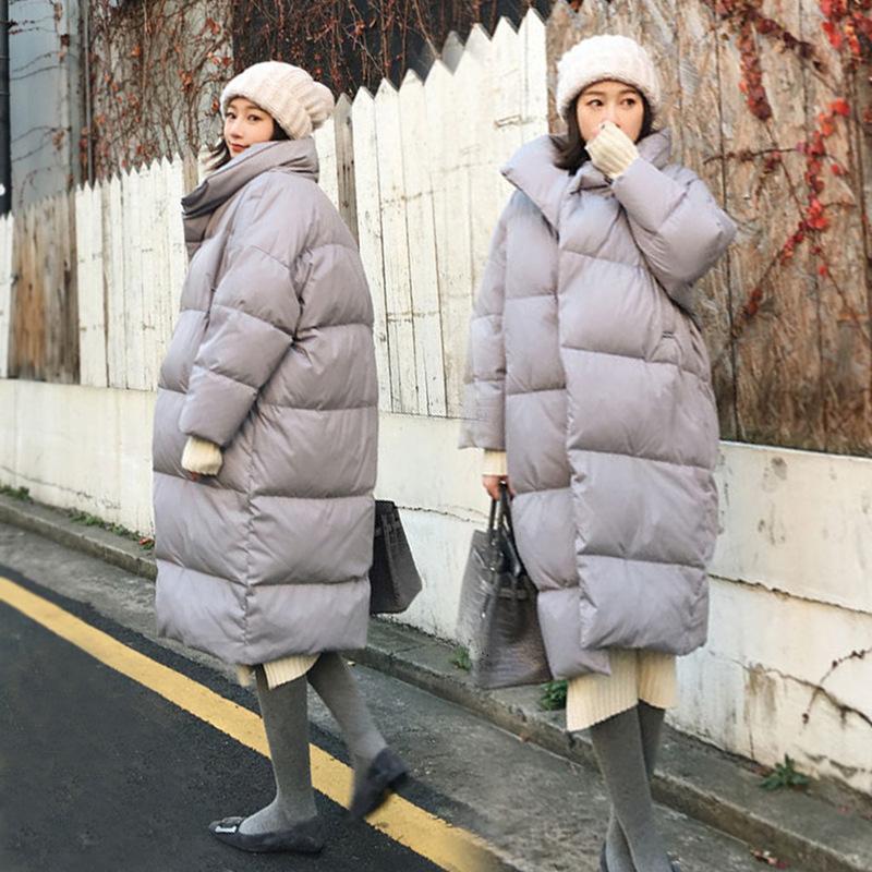 الشتاء الحمل دافئ إلى أسفل دثار لنساء الحوامل أزياء فضفاضة الأمومة الستر زائد الحجم الحمل أبلى الملابس الشتوية