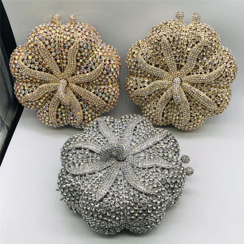 Bolsas de noche Bolso de lujo para WeddingParty Mujeres elegantes con cadena de mango Bolsos de hombros Crystal Bridal Body Bodse