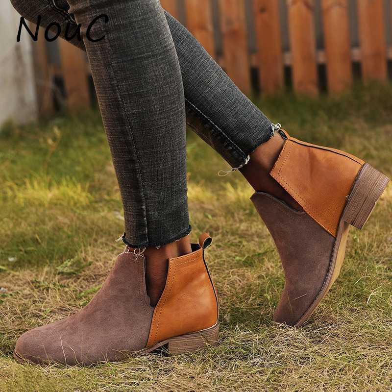 BOOTS NOUC TKLE PARA MUJERES Slip on PU Cuero Zapatos Gladiador Botines de moda Botas MUJER Invierno Diseñadores