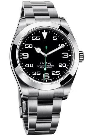 luminousdesigner 40mm brillante de línea de gama alta de los hombres de acero inoxidable relojes reloj mecánico automático, nuevo reloj 2020