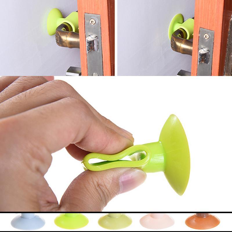 Door Back Home Protect Pad Door Handles Wall Sticker Hook Stopper Anti Crash