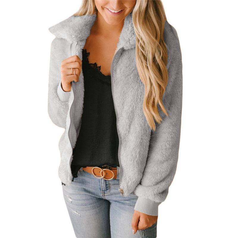 Femmes Sherpa Cardigan 2019 Spring Zip Fleece mince Cardigan Réchauffez Puffy Tops Femme Casual Street Wear SweatersMX190927