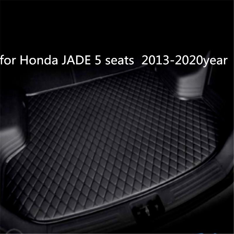 Custom anti-skid leather car trunk mat floor mat suitable for Honda JADE 5 seats 2013-2020year car anti-skid mat