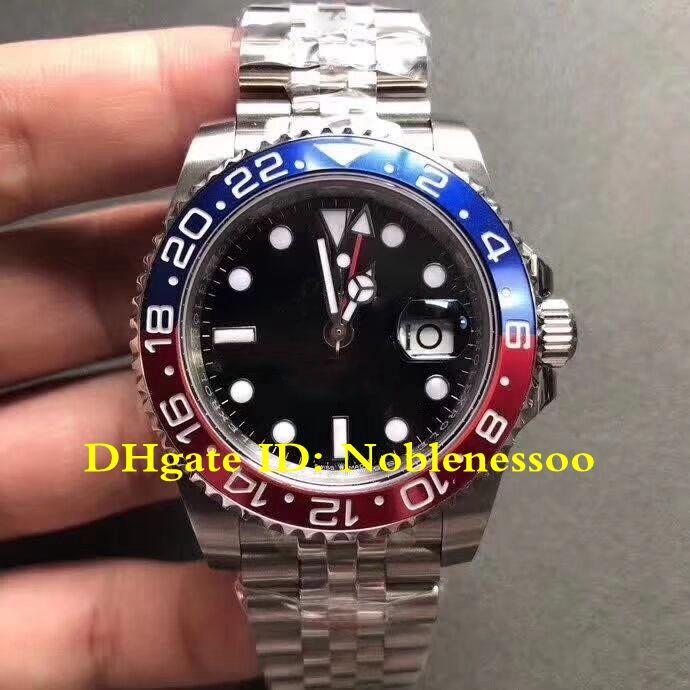 سوبر نموذج جديد أعلى 316L بازل العالمي GMT 126710 BLRO 126710BLRO 126710BLNR بيبسي الأحمر الأزرق الحافة BP مصنع 2813 التلقائية الرجال ووتش