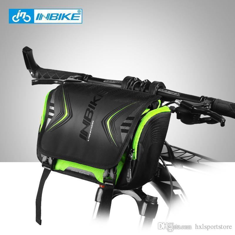 2018 Inbike нового водонепроницаемого велосипед мешок большой емкости Handlebar Передней труба сумка велосипед карманных плечи рюкзак Велоспорт велосипед аксессуары HXL
