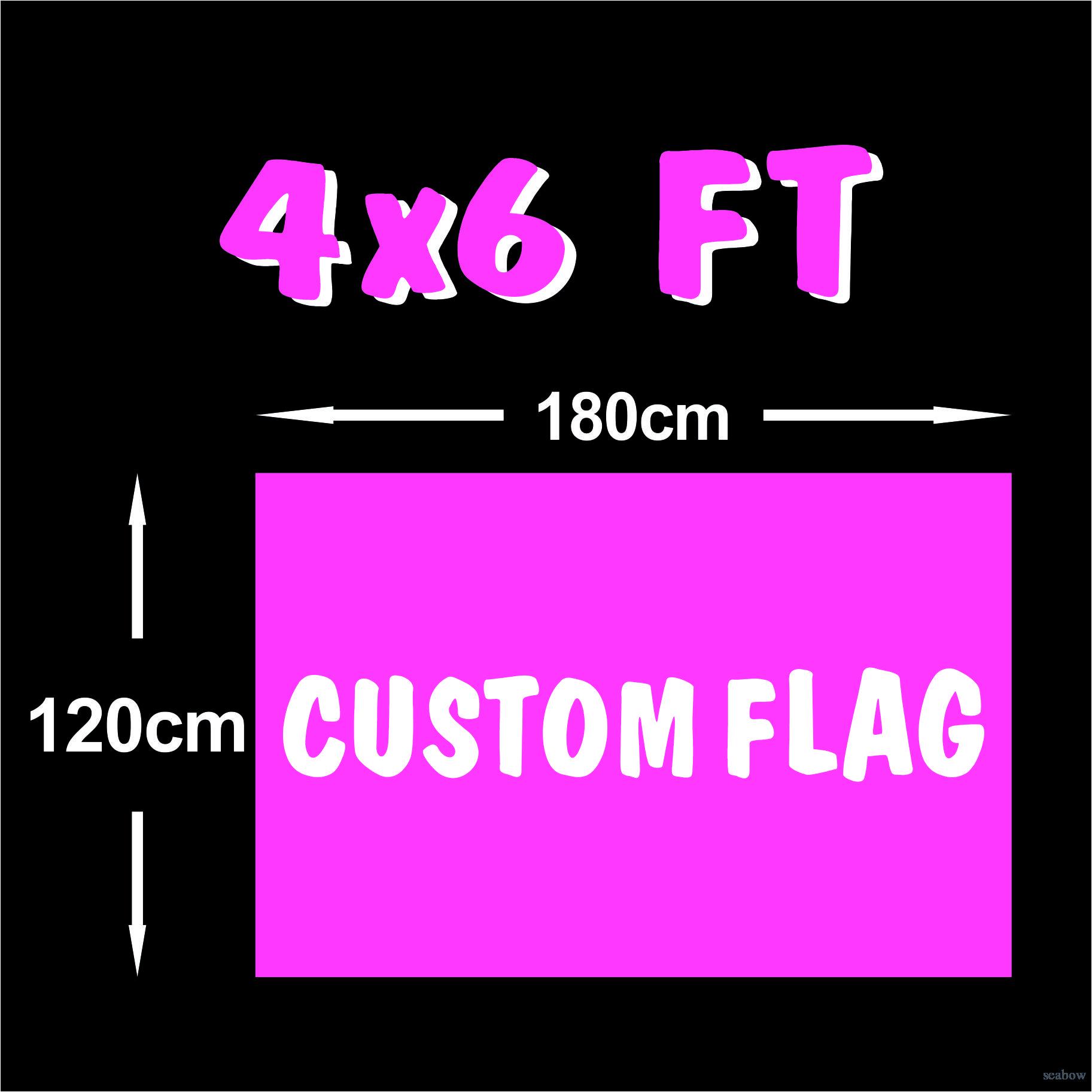 Kundenspezifische Flaggen-4x6 FT Banner 120x180cm Sports Party Club Geschenk Digital Printing Polyester Hanging Indoor Outdoor Printed Flaggen und Banner!