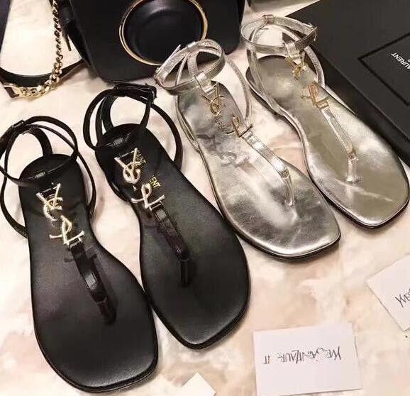 Mulheres sandálias de Verão da moda Da Marca oco laço Super macio botão de metal original sexy couro matt Senhoras Plana sandálias de viagem casual