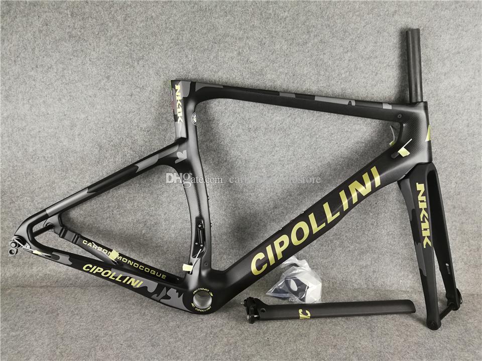 NK1K gris Camouflage Disque Carbon Road Bike / Béliers Cadre Carbon Cadrage complet XXS XS S M L