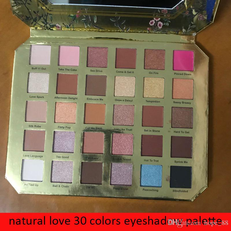 2019 neue Make-up-Lidschatten-Paletten Chocolate Natural Love Lidschatten-Kosmetikkollektion Ultimativer Mattschimmer 30 Farbe auf Lager Freier Tropfen
