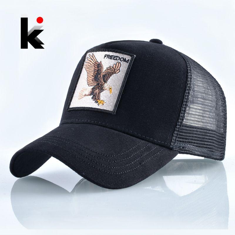 الأزياء الحيوانات التطريز قبعات البيسبول الرجال النساء سنببك الهيب هوب قبعة الصيف تنفس شبكة الشمس gorras للجنسين الشارع الشهير العظام D19011502
