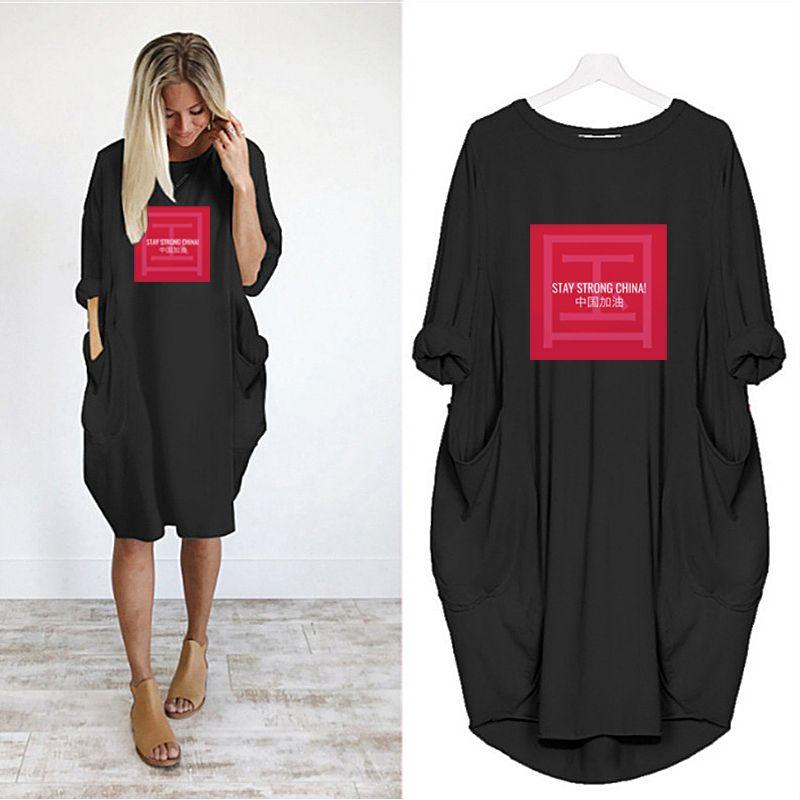 2020 New Fahsion Womens Designer Long Length T-shirts Summer Loose Breathable Womens Cloths DIY Print High Quality Plus Size Womens T-shirts