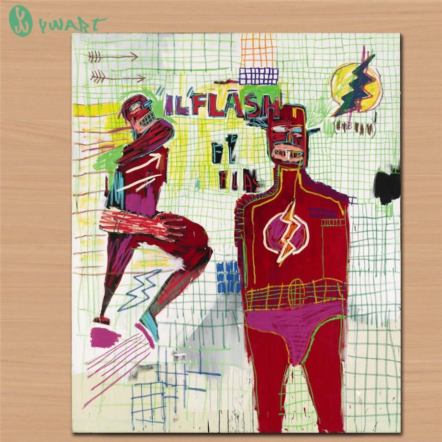 Flash in Naples Jean Michel Basquiat,HD Canvas Print Home Decor Art Painting /(Unframed/Framed)