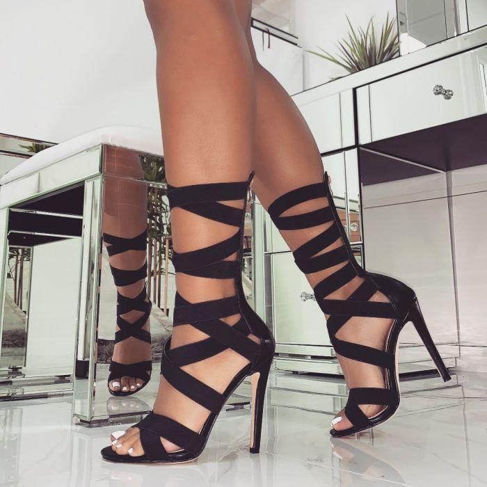 Mini2019 будет фонд Code Женская обувь Эластичный Рим с сандалиями Sexy High Help Shoe