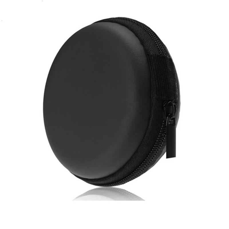 JK Portable Case for Earphone Mini Zippered Round Storage Hard cotton Bag Headset Box for Headphones Case Cards charger Cable