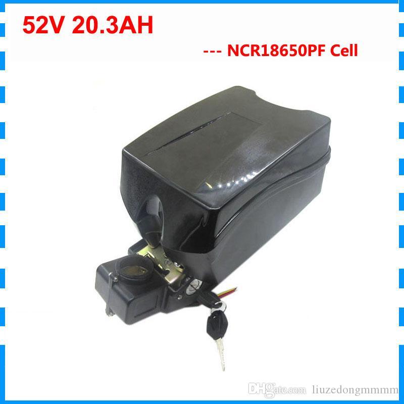 Аккумуляторная батарея 1500W 51.8V Ebike 52V 20.3AH Scooter батареи 52V 14S литиевая батарея использование NCR18650PF 2900mAh клетки