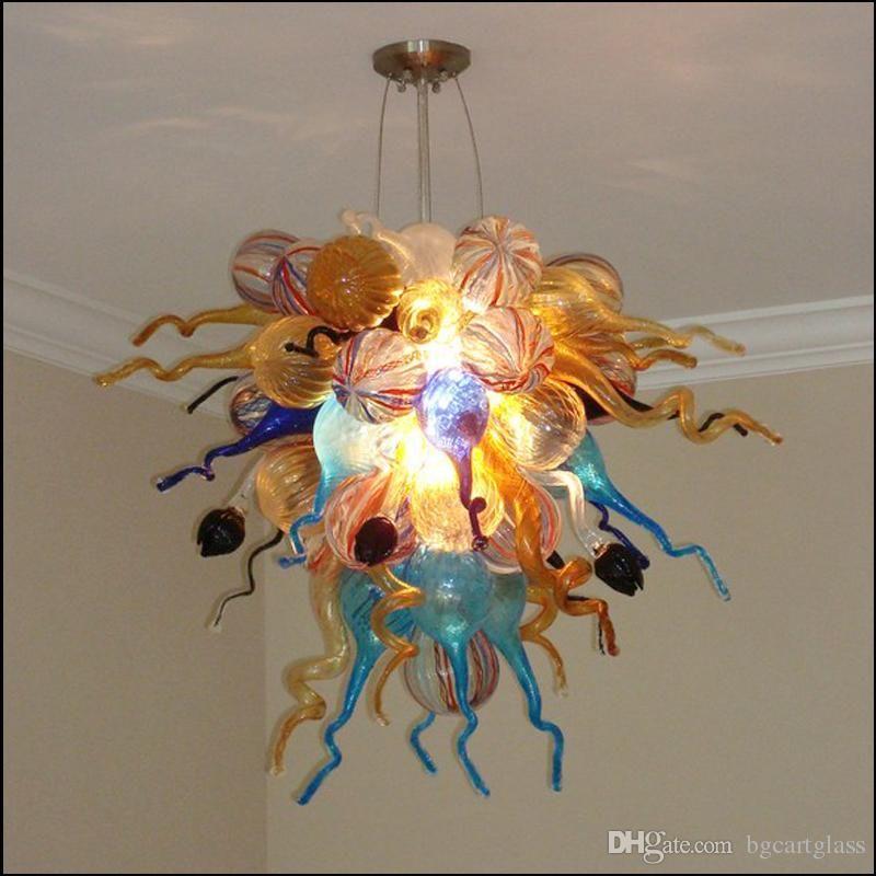 Бесплатная доставка 100% Art Glass Подвеска Свет Рука выдувное стекло Люстра огни муранского стекла Люстра Светильники для изучения Decor