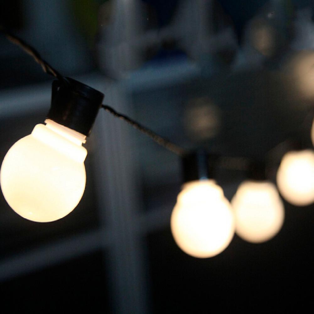 20 LED Globe Festoon Fairy String Lights Blub 6M Plug Christmas Wedding Outdoor
