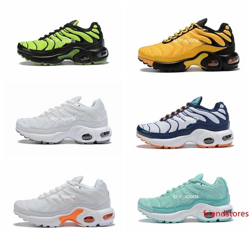 2019 Новый TN плюс детские кроссовки дышащие девушки мальчики молодежные дизайнерские спортивные кроссовки Eur размер 28-35