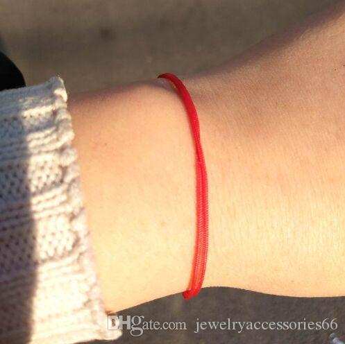 Горячая 2019 Женская мода Простой Тонкий Lucky Red String Браслет Новые Ювелирные Изделия Пара Браслеты Подарки На День Рождения