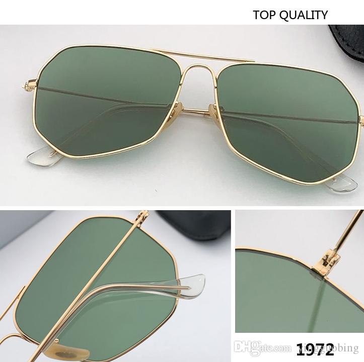 2020 الجديد مربع مصمم مرآة النظارات الشمسية الرجال النساء أعلى العلامة التجارية العشاء الجودة معدن نظارات شمسية المسافر Oculos دي سول UV400 1972 gafas
