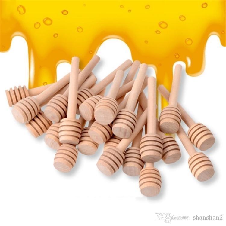 8cm долго мини деревянные Honey Honey Стик Dippers Партии питания Ложка Стик Honey Jar Стик Кухня Посуда столовая продукт 4838