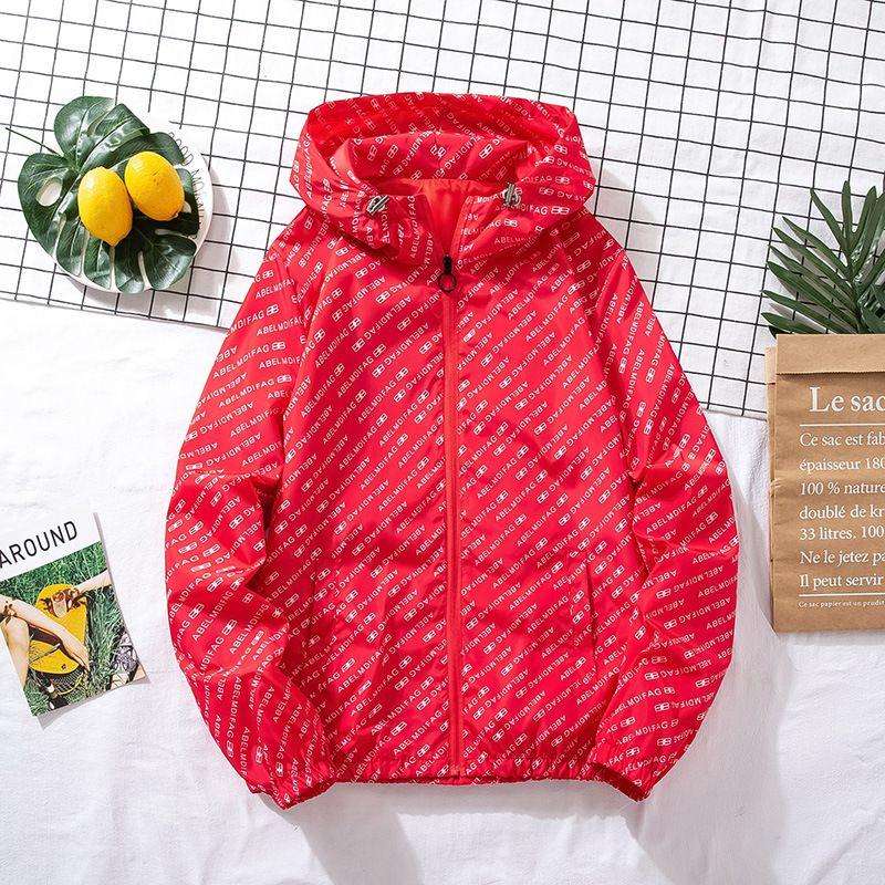 Manera de los hombres de la chaqueta nueva primavera y otoño chaqueta carta de tendencia par de la ropa de los hombres del resorte de las mujeres del desgaste tamaño M-5XL-2