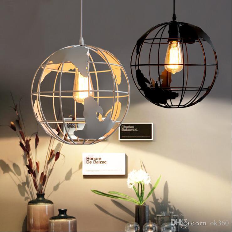 Vintage Globos Lâmpadas Pingente Decor industrial Lâmpada de suspensão do metal lâmpada industrial para quarto Quarto de jantar sala de estar Restaurante