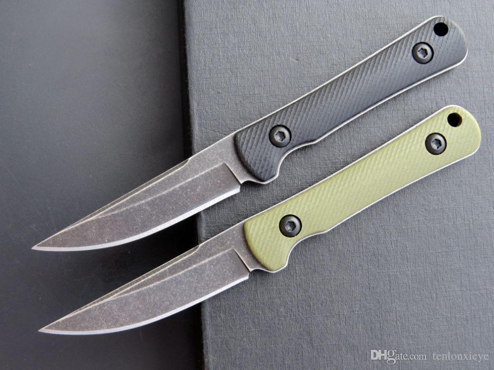 새로운 EF110 휴대용 작은 스트레이트 블레이드 (440)는 야외 사냥과 전술 도구 캠핑을 고정