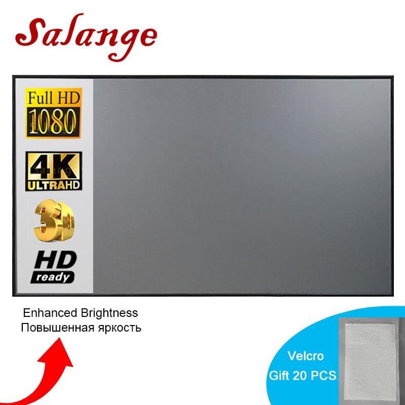 شاشة الإسقاط شاشة الإسقاط بسيطة الستار شاشة مكافحة الخفيفة 60 72 84 100 120 بوصة مكتب المنزل في الهواء الطلق المحمولة 3D HD شاشة العرض