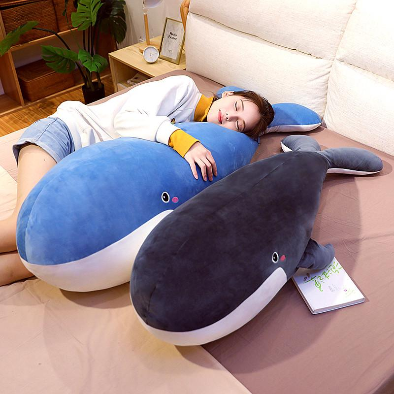 new giant animal whale plush toy accompany sleeping pillow doll dolphin toys for children girl gift decoration 59inch 150cm DY50874