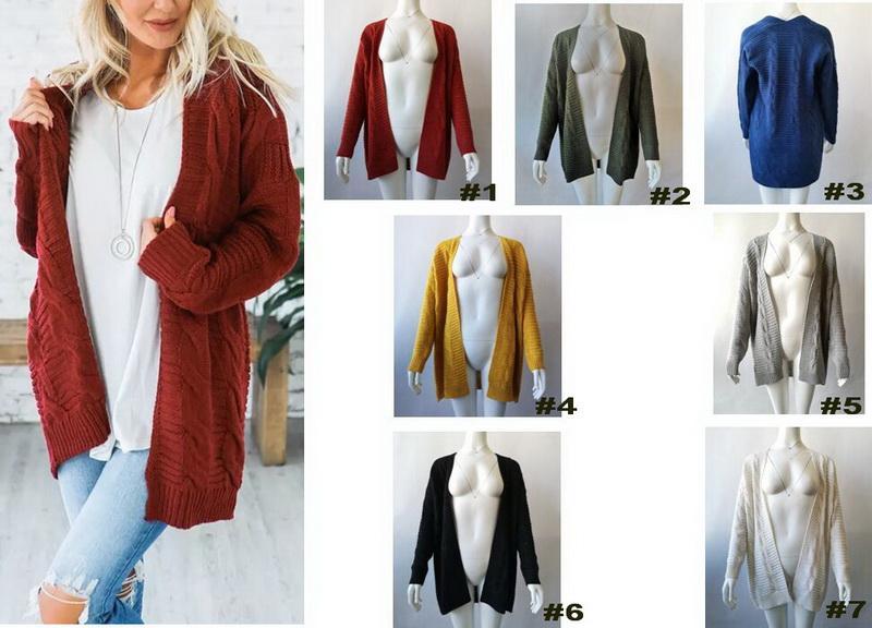 Multi colori Autunno Abbigliamento Donna Maglieria più le donne Top manica lunga T-shirt Top 2 disegno differente e 12 colori