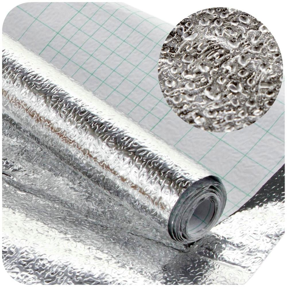 Adesivi Cucina autoadesive spessa lamina di alluminio armadio cucina Sticker impermeabile carta da parati a prova di umidità autoadesive