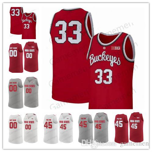 Ohio State Buckeyes 35 Gary Bradds 27 Fred Taylor 23 LeBron James Greg Oden Custom Any name Any number NCAA Basketball Men Jerseys