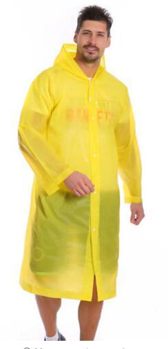 الجملة 1 PC الجملة محمول جولة في الهواء الطلق معطف واق من المطر قابلة لإعادة الاستخدام شبه شفاف طويل العالمي عباءة EVA الكبار ملابس ضد المطر ماء