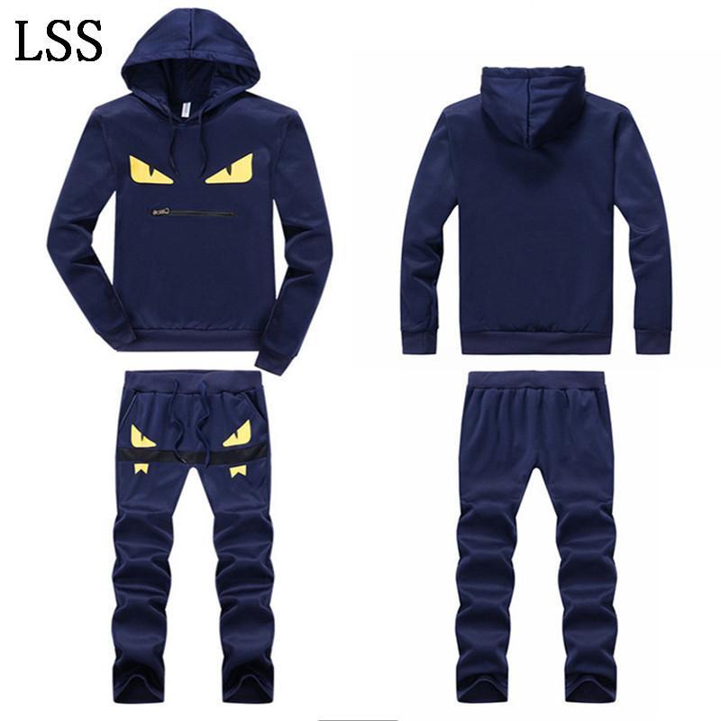 New Men's Set Spring Autumn Men Sportswear 2 Piece Set Sporting Suit Jacket+Pant Sweatsuit Men Clothing Tracksuit Set Outwear TZ-3