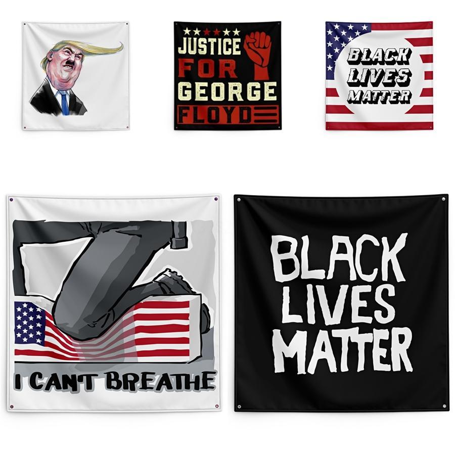 150*150cm I Cant Breathe Blanket George Floyd Printing Tapestry Black Lives Matter Household Wall Banner #QA96006