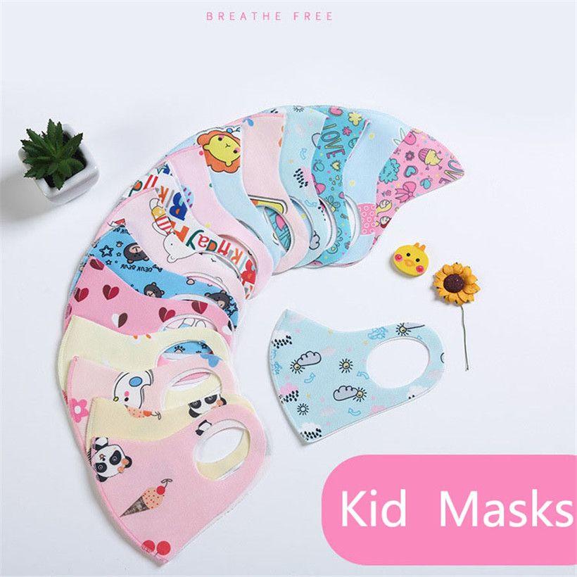 Designer Kids Masque anti-poussière bouche couverture masquent PM2,5 antipoussière Anti-bactérien lavable réutilisable éponge Masques de protection DHL Ship