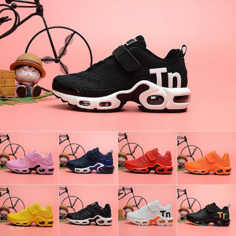 Nike Air Max Mercurial Tn Plus ayakkabılar erkek kız genç çocuk spor Sneaker boyutu 28-35 Running 2019 toptan TN Artı kpu sihirli düğme hava Yastık Trainer Çocuk