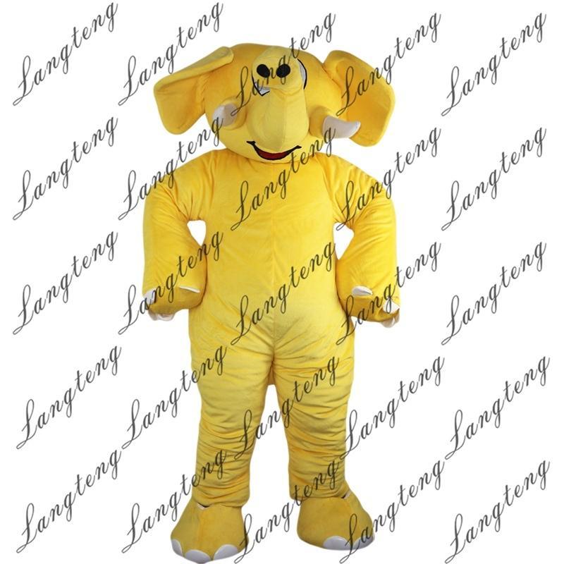 2018 nuovi costumi di alta qualità Giallo Elephant mascotte per adulti circo di Natale di Halloween Outfit vestito operato vestito libero Shipping012
