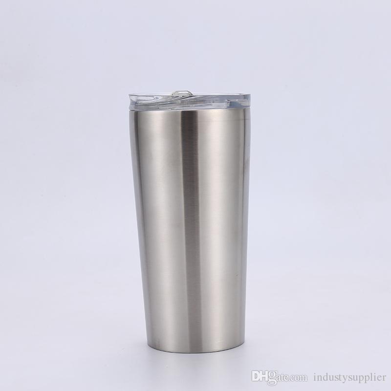 Acero inoxidable 15 oz vaso Copas recta con tapa y Beber vacío pajas aislado recta vasos de cerveza Taza de los vidrios en stock A07