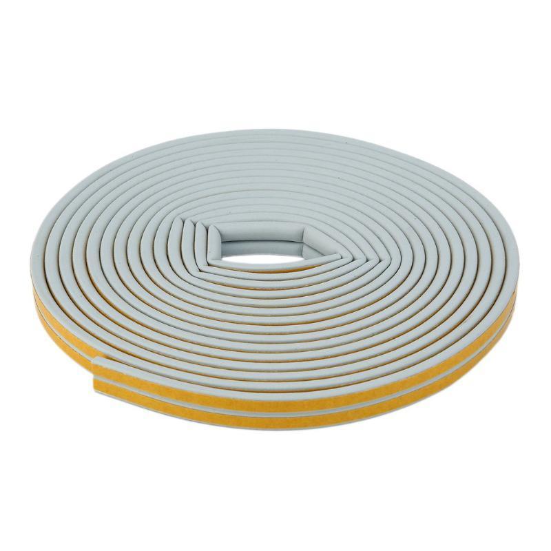 12m adhesivas Puertas Ventanas espuma sellado de cinta de insonorización y prevención de colisiones sello a prueba de viento de aislamiento de ruido Wheatherstrip
