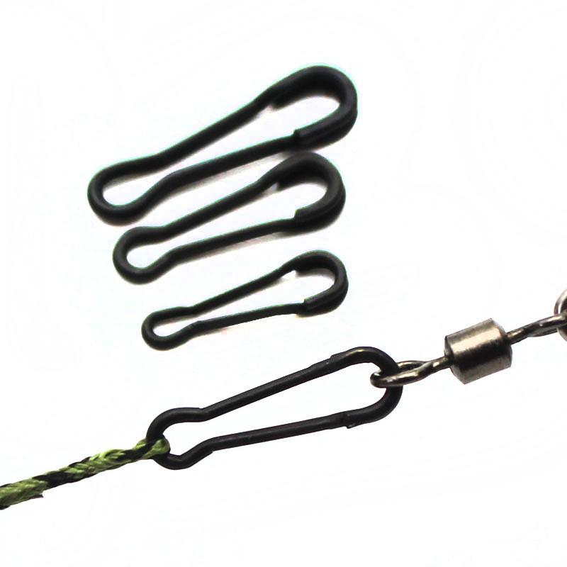 10 QUICK LINK CLIPS SIZE 8 CARP PIKE HAIR rigs traces fishing tackle release
