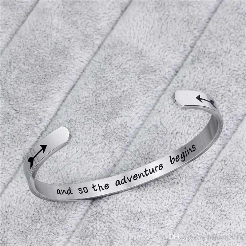 Браслет-манжета для женщин подарков на день рождения для нее серебряного браслета персонализированного Mantra Вдохновенного Daily Reminder
