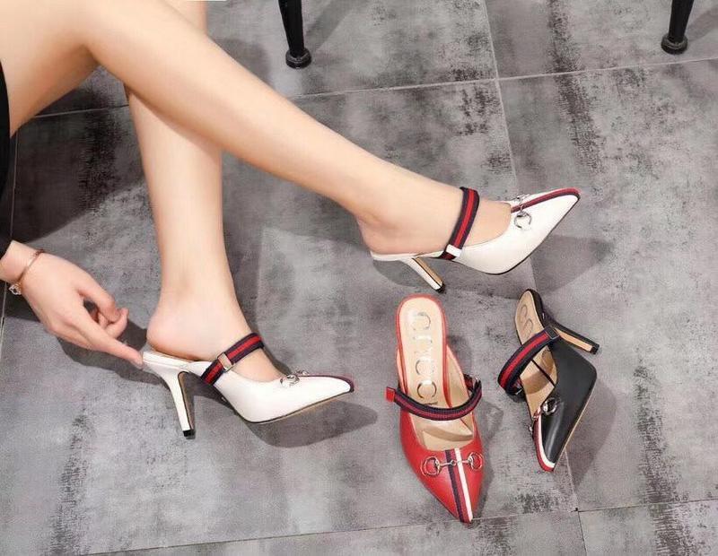 Chenfei2 6XW3 220327 puntas talón de la mitad de las mujeres altos deslizadores de las sandalias mulas Diapositivas BOMBAS zapatos de vestir ZAPATILLAS