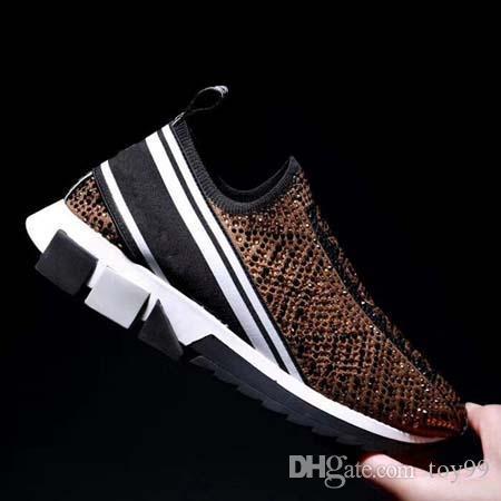 Com Box Sapatilha Casual Formadores de moda calçado desportivo sapatos Trainers melhor qualidade para Unisex grátis DHL Por toy99 D1703 11-20