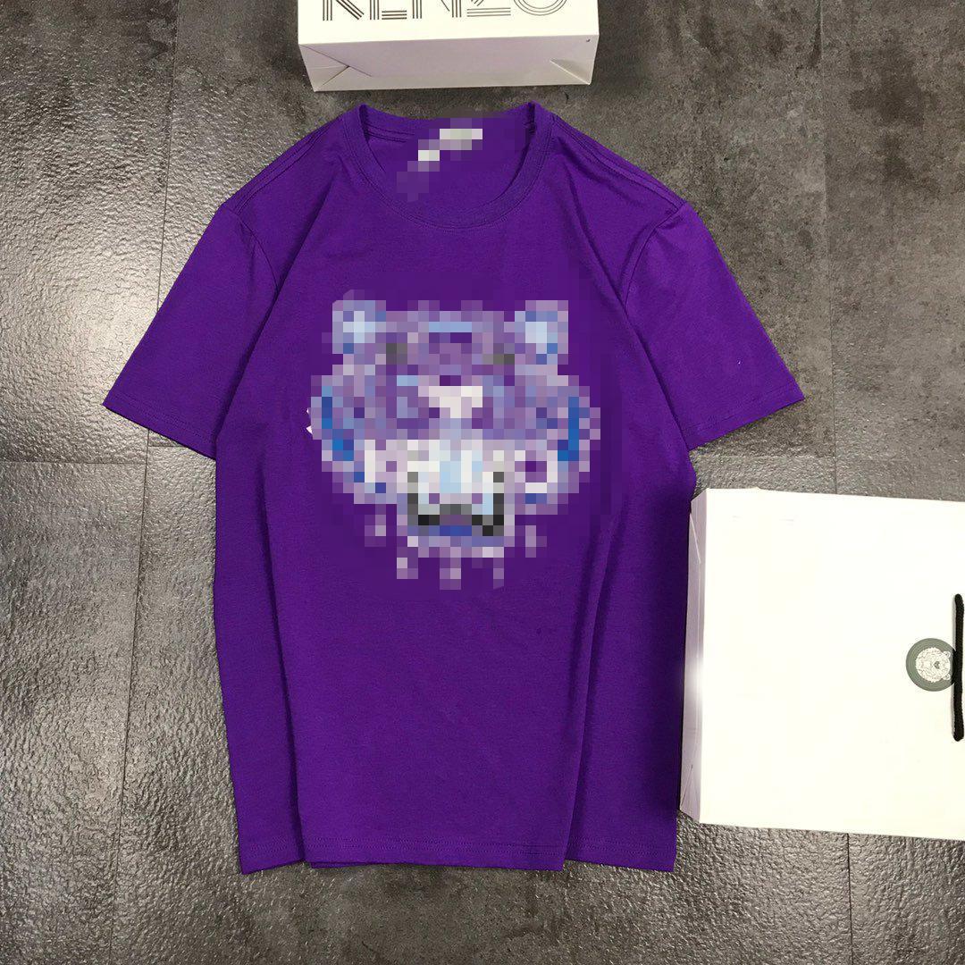 Tasarımcı Gömlek Erkekler Kadınlar Yaz Marka Lüks tişörtler Kaplan Kafa Mens lüks Üst Tees Casual Yüksek Quility Kumaş Streetwear Sıcak 2042910H