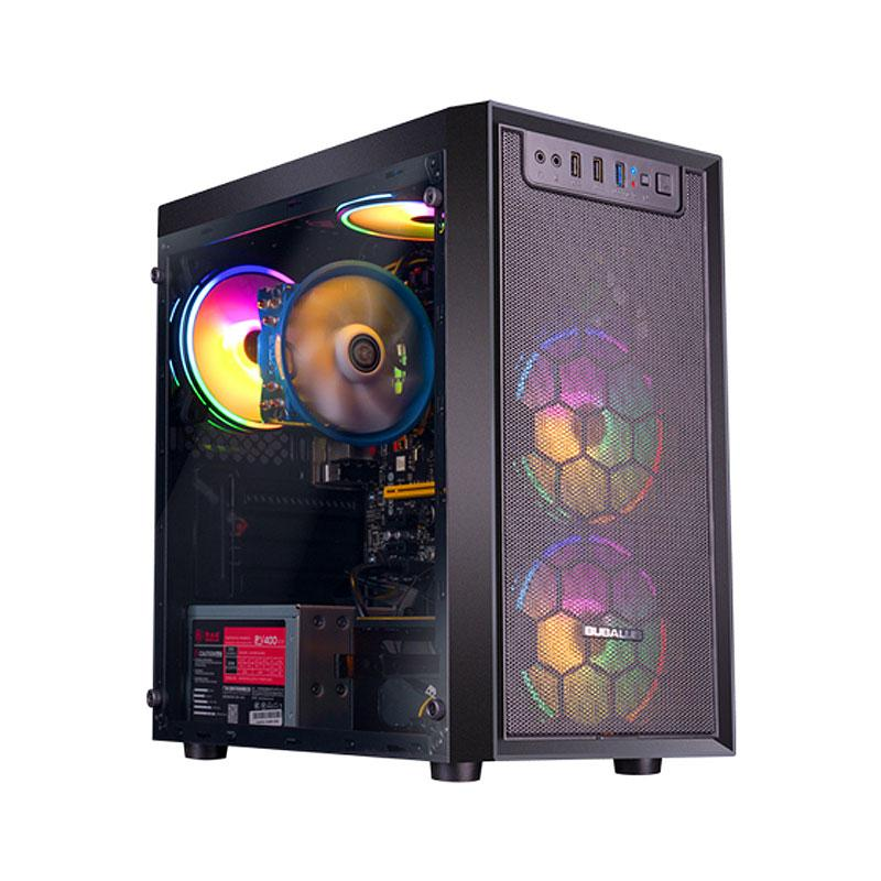 IPASON GAMING PC AMD RYZEN3 3200G / 3200GE 4 CORE 3.6 جيجا هرتز 120 جيجابايت / 240GB SSD 8G ذاكرة RGB الكمبيوتر المكتبي HDMI، ويندوز 10